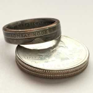 2015 US Delaware State Parks Quarter Coin Ring
